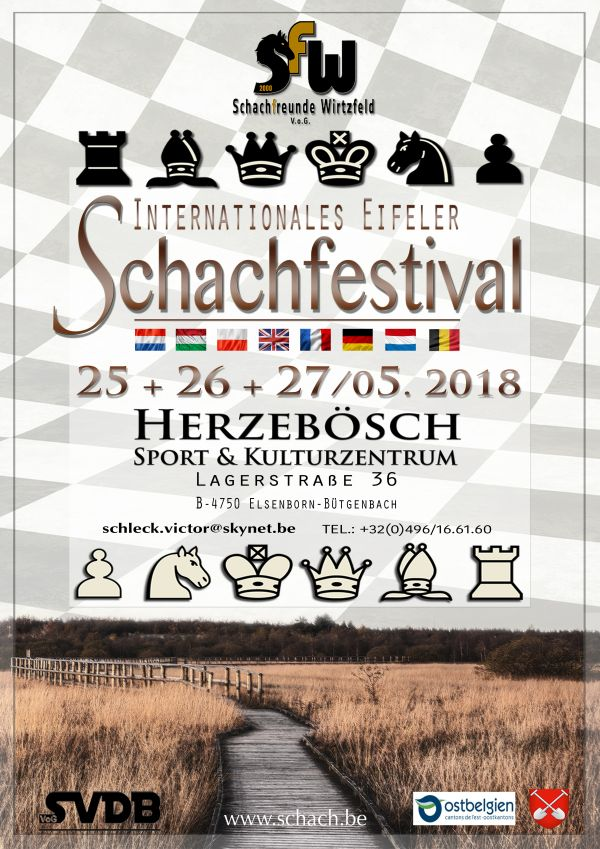 Plakat Eifeler Schachfestival 2018